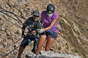 Abseiling 80m Orange River